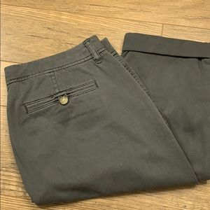 J. Crew boyfriend fit khakis in dark grey